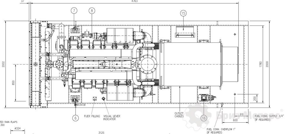 высоковольтная ДЭС CTM M.1260 (1000 кВт, 6,3кВ)